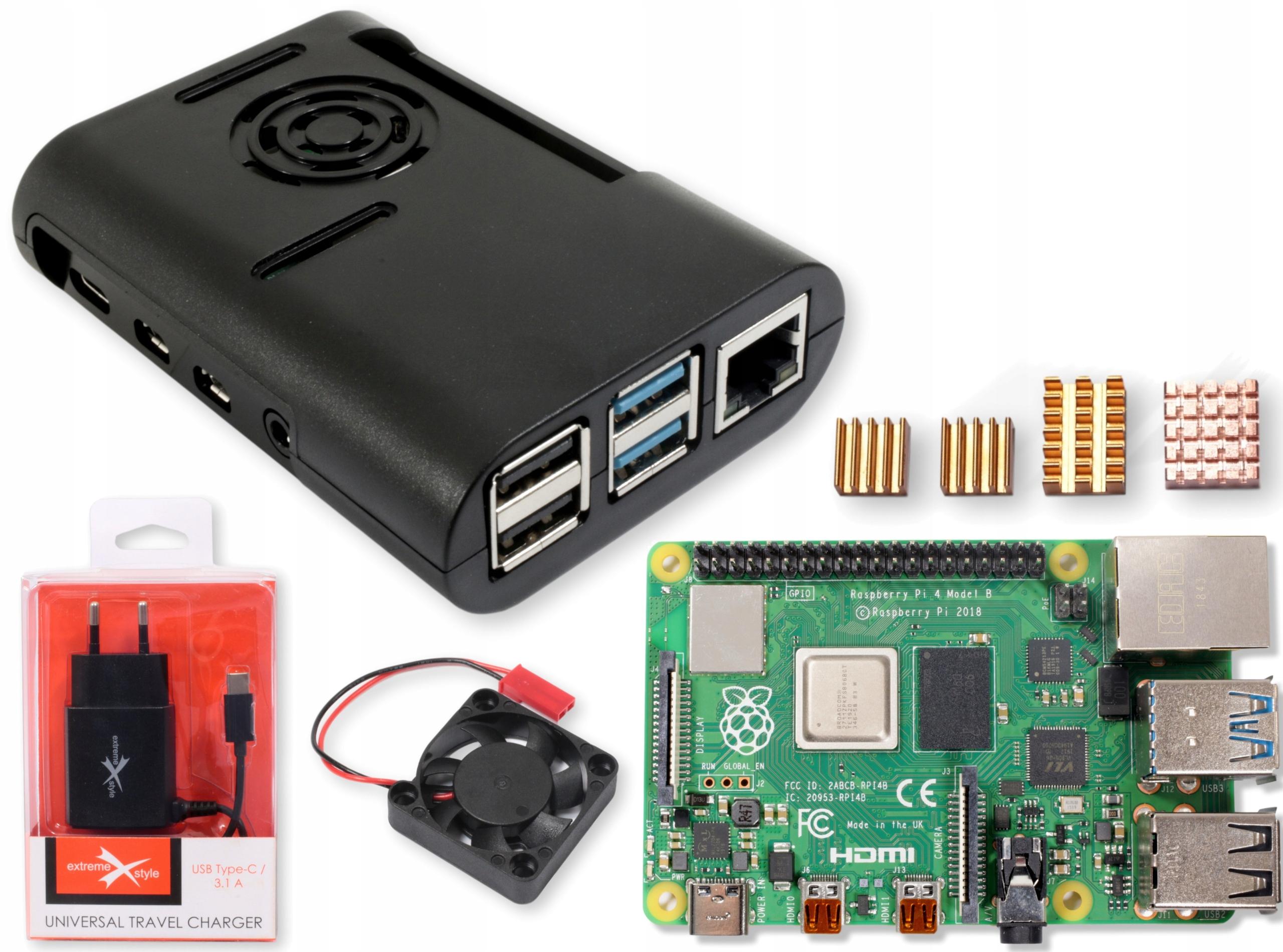 Raspberry Pi 4 4gb W Zestawie Obudowa Zasilacz Rad Sklep Komputerowy Allegro Pl