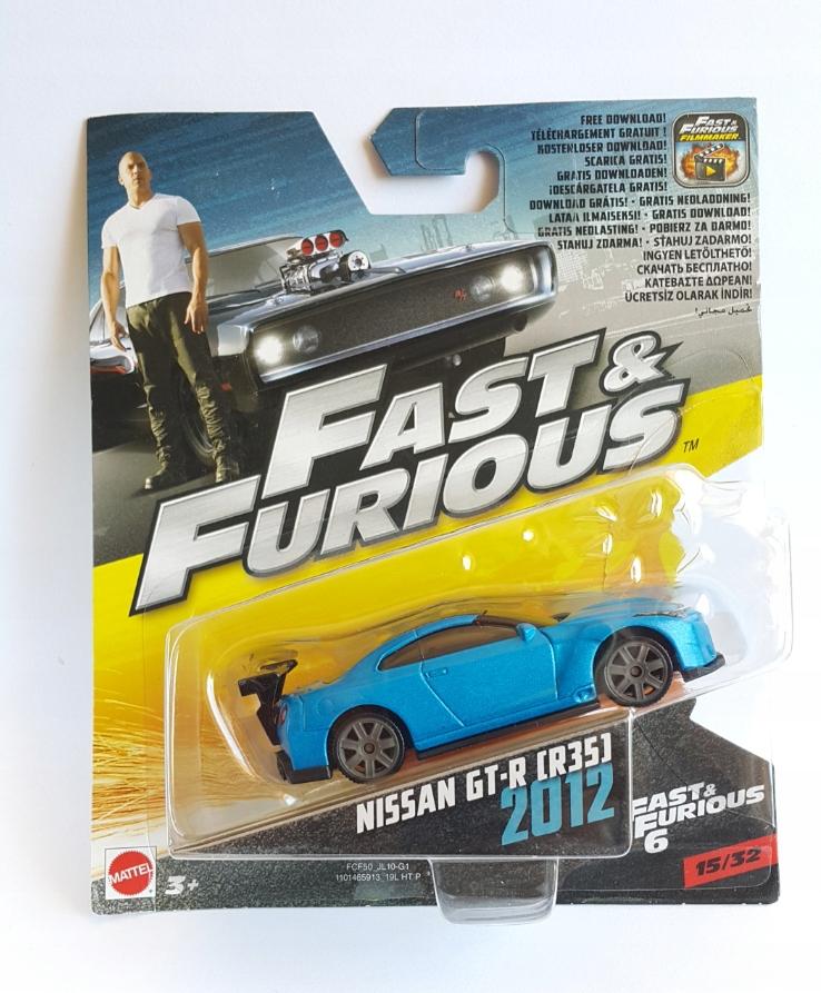 NISSAN GT-R R35 GTR FAST & FURIOUS HOT WHEELS