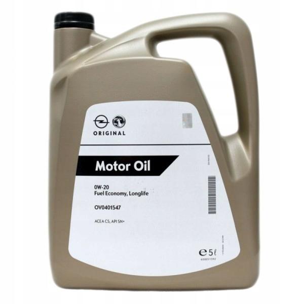 Olej silnikowy OPEL 0W20 5l