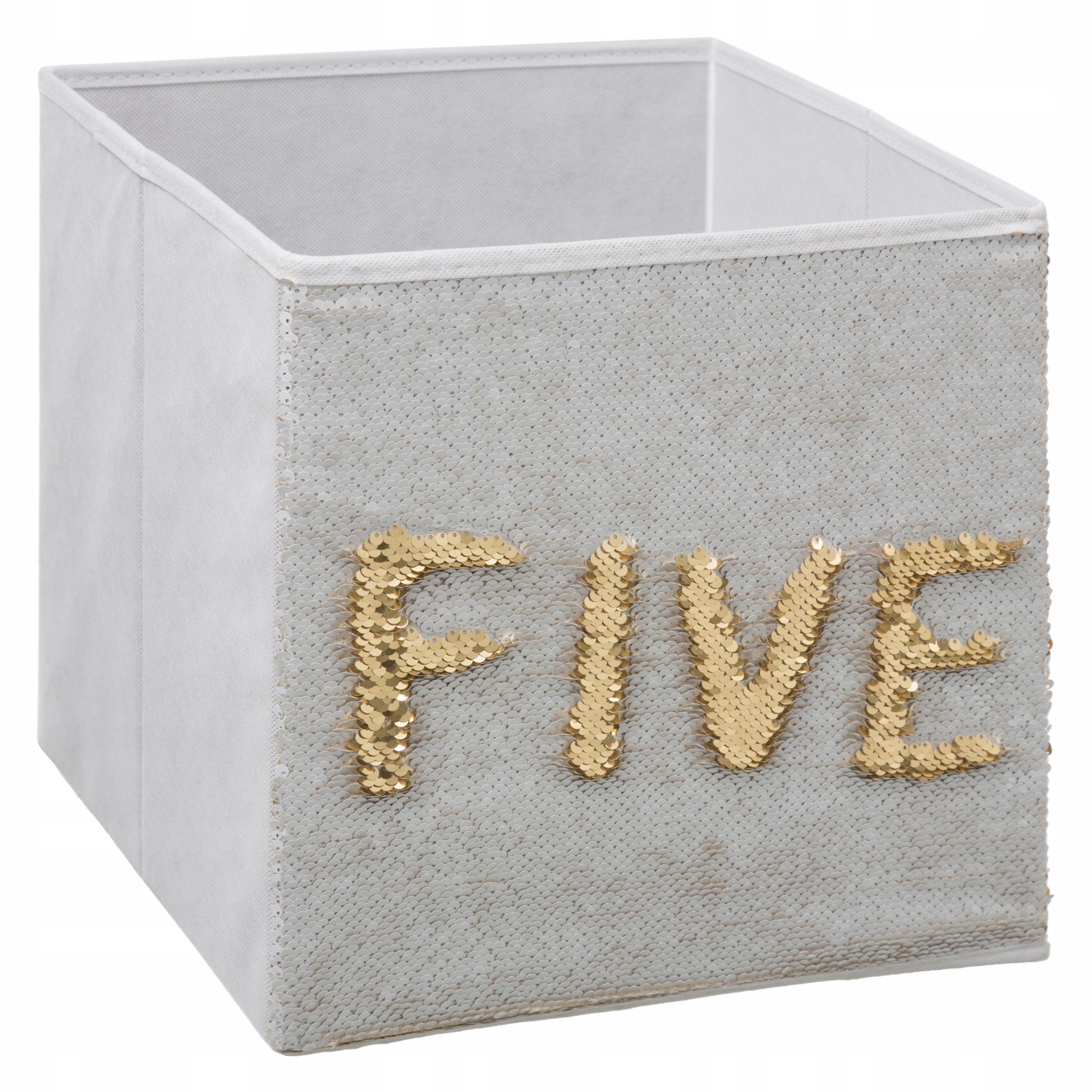 Коробка для игрушек с пайетками Kallax