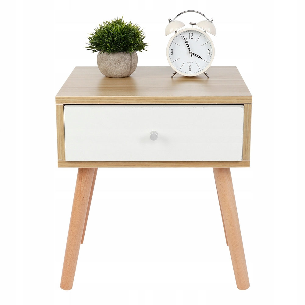 BEDSIDE TABLE BEDSIDE TABLE WHITE RETRO