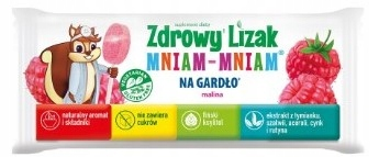 Леденец на палочке здорового горла Малина без сахара ХИТ