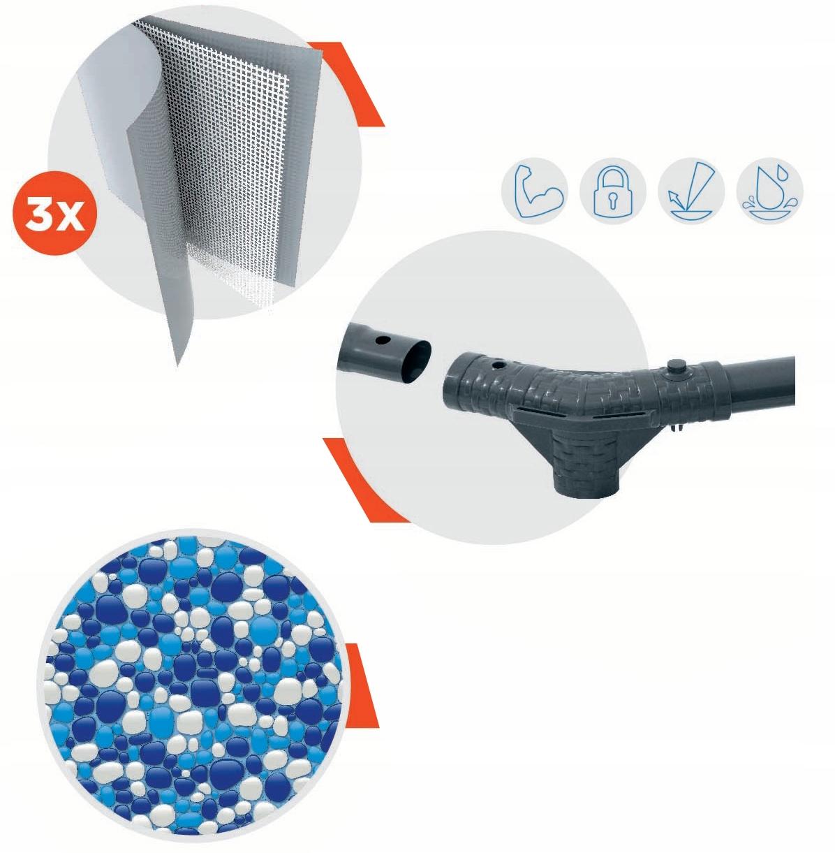 BASEN STELAŻOWY 56408, OGRODOWY 305x76cm + POMPA Seria Steel Pro Max 2021