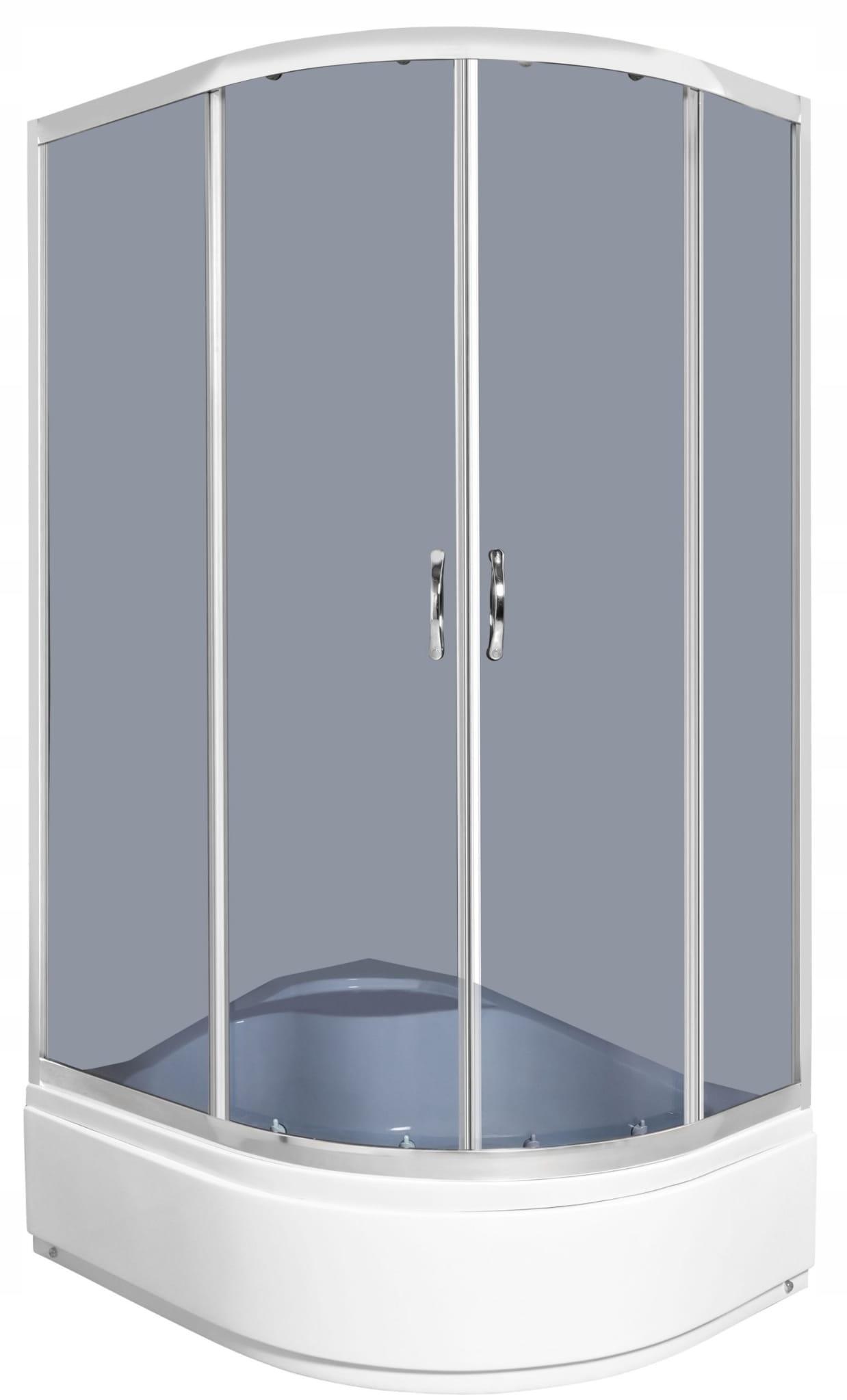 Sprchová kabína Katia 100x80cm / 5mm + sprchová vanička, ĽAVÁ