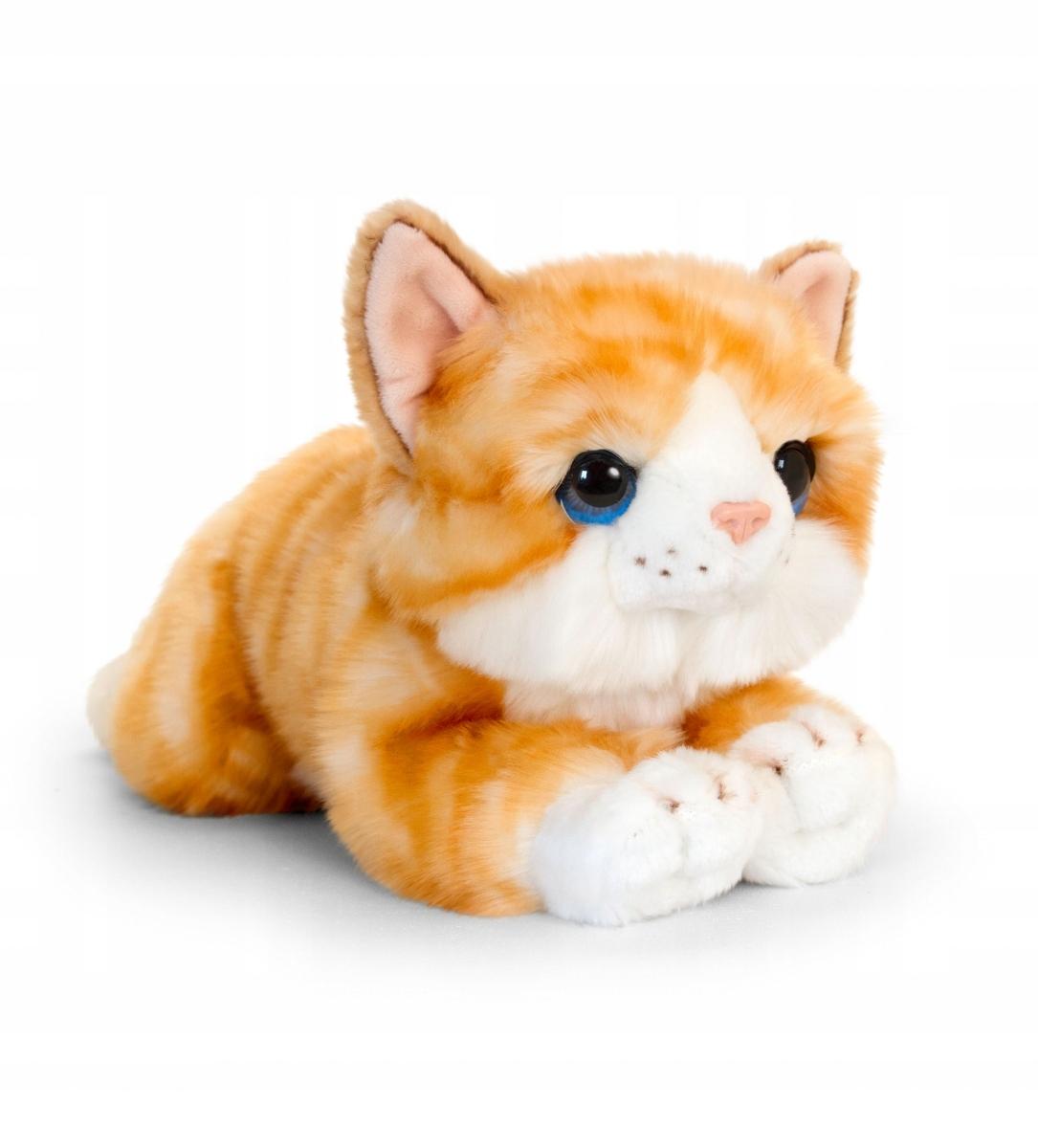 Plyšová hračka KITTEN CAT červená 32 cm
