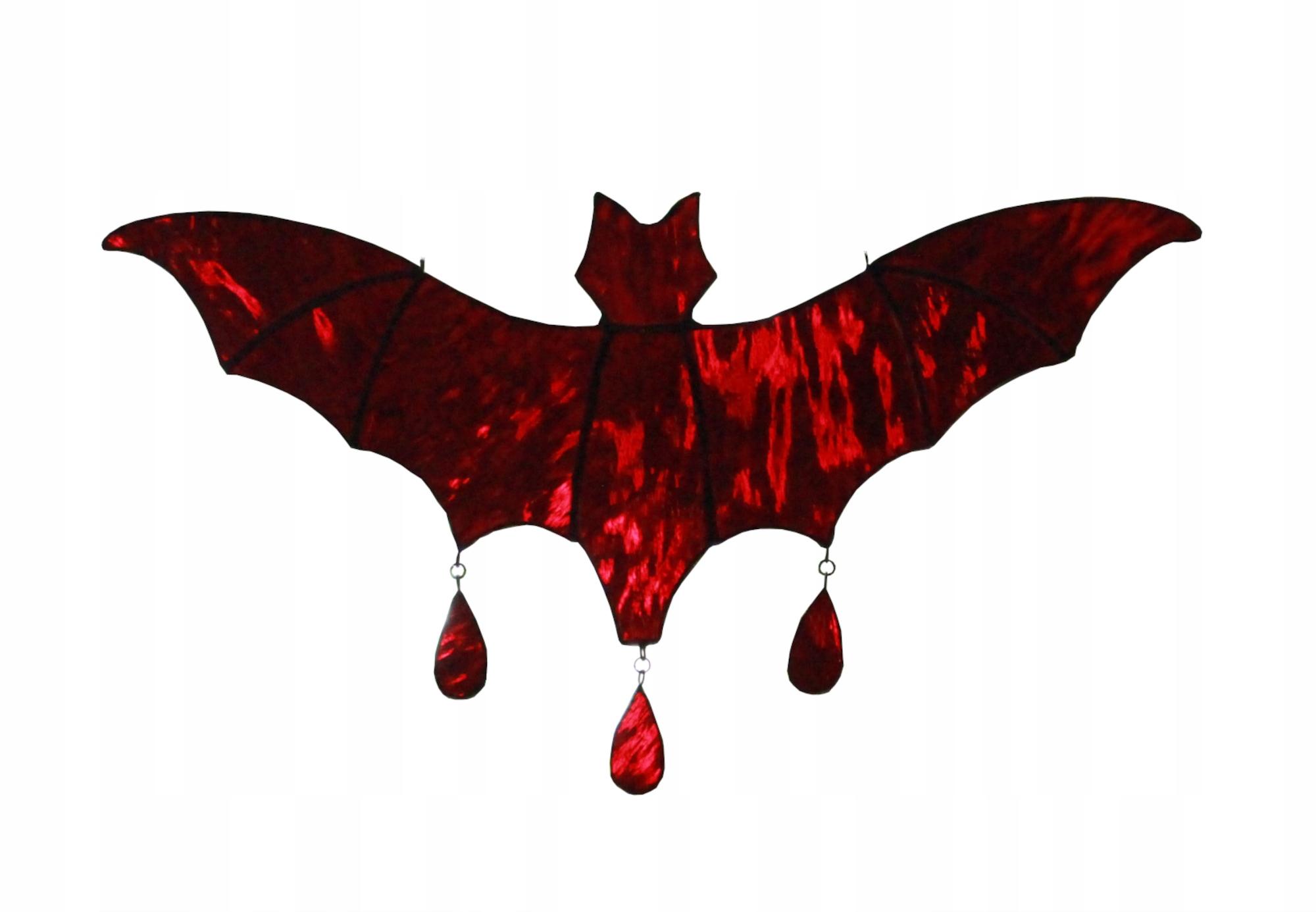 Хэллоуин украшение стекло красная летучая мышь