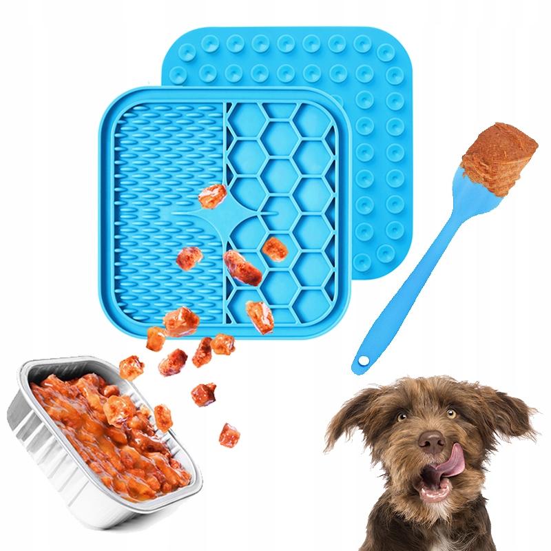 LICKING MAT коврик для облизывания собак + СИНИЙ ЛОПАТКА