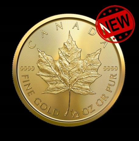 Zlatá minca - Javorový list - 1/2 oz - 15,5 g