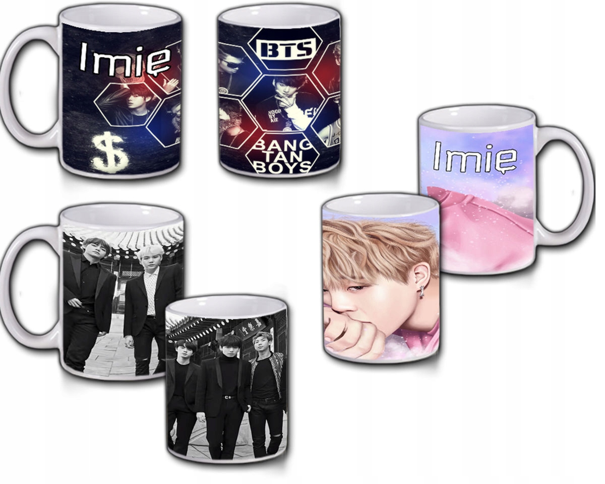 Item Mugs BTS BANGTAN BOYS k-pop PATTERNS from Poland
