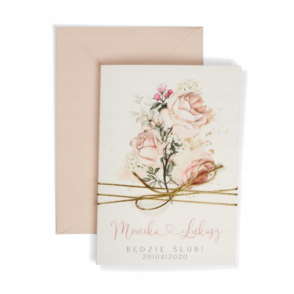 ТРИАЛ Классические розовые розы свадебные приглашения