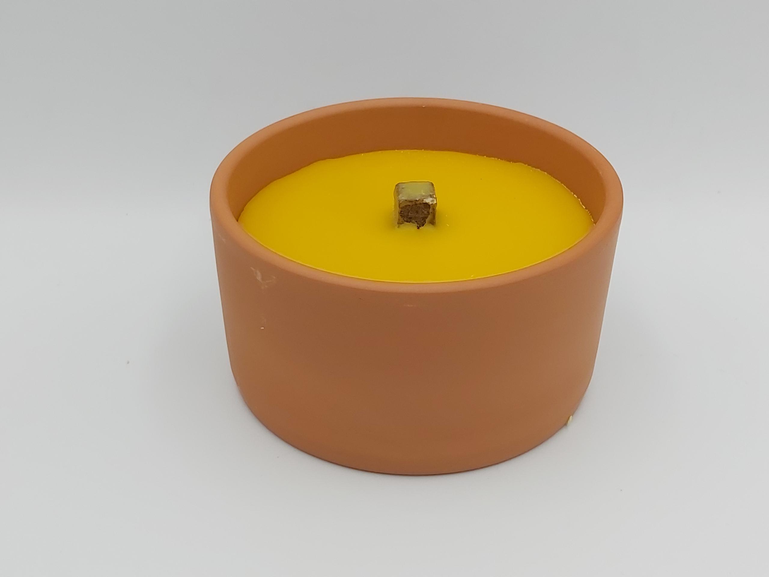 Otvorená hlinená sviečka, stará retro popoluška, 10 ks