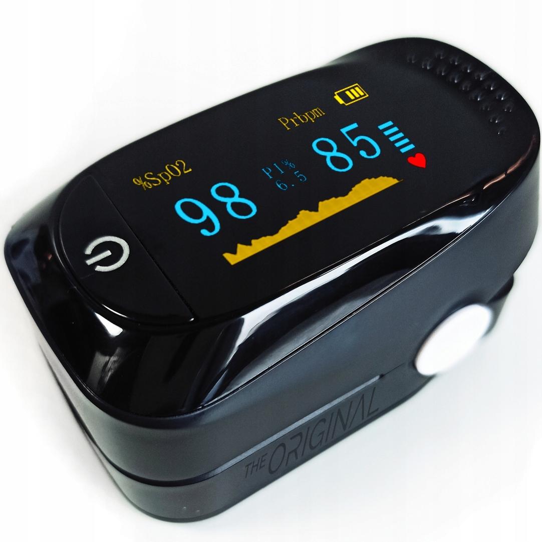 POLSKI Pulsoksymetr MEDYCZNY pomiar saturacji tlen