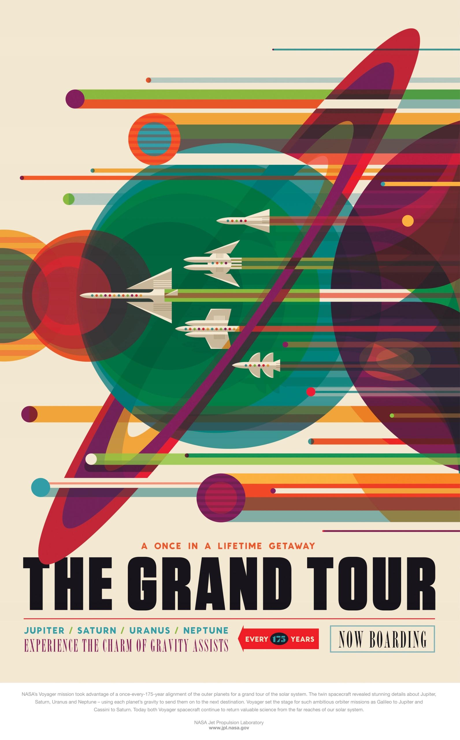 Plakat retro NASA Grand Tour