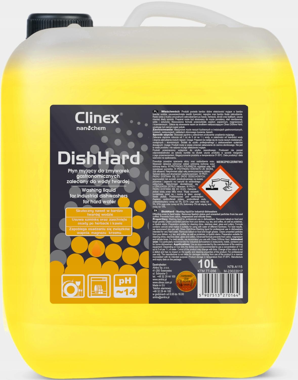 CLINEX DishHard жидкость для посудомоечной машины, твердая вода 10L