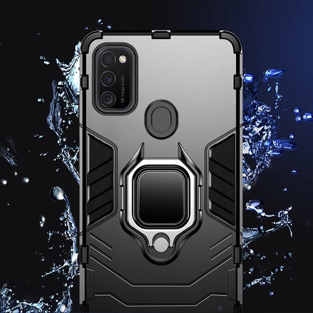 Etui Pancerne Case + Szkło do Samsung Galaxy M21 Kolor czarny