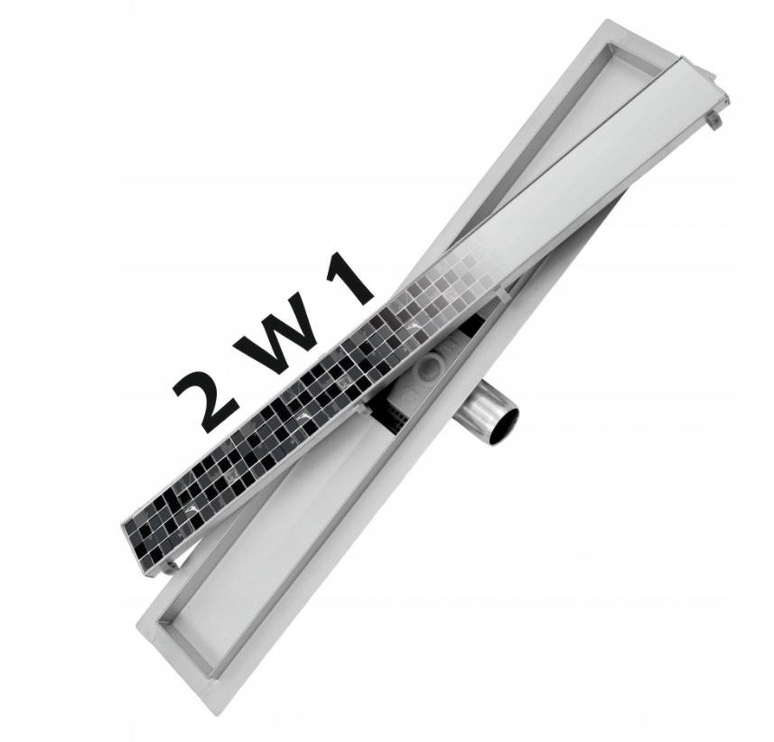 Lineárny podlahový odtok 2v1, nízky sifón 150cm