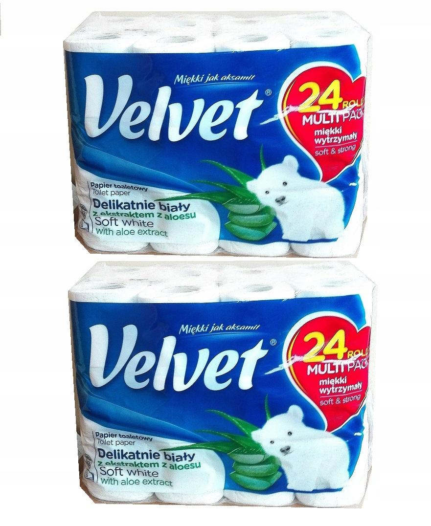 туалетная бумага белый Бархат 48 рулонов 3 слоя