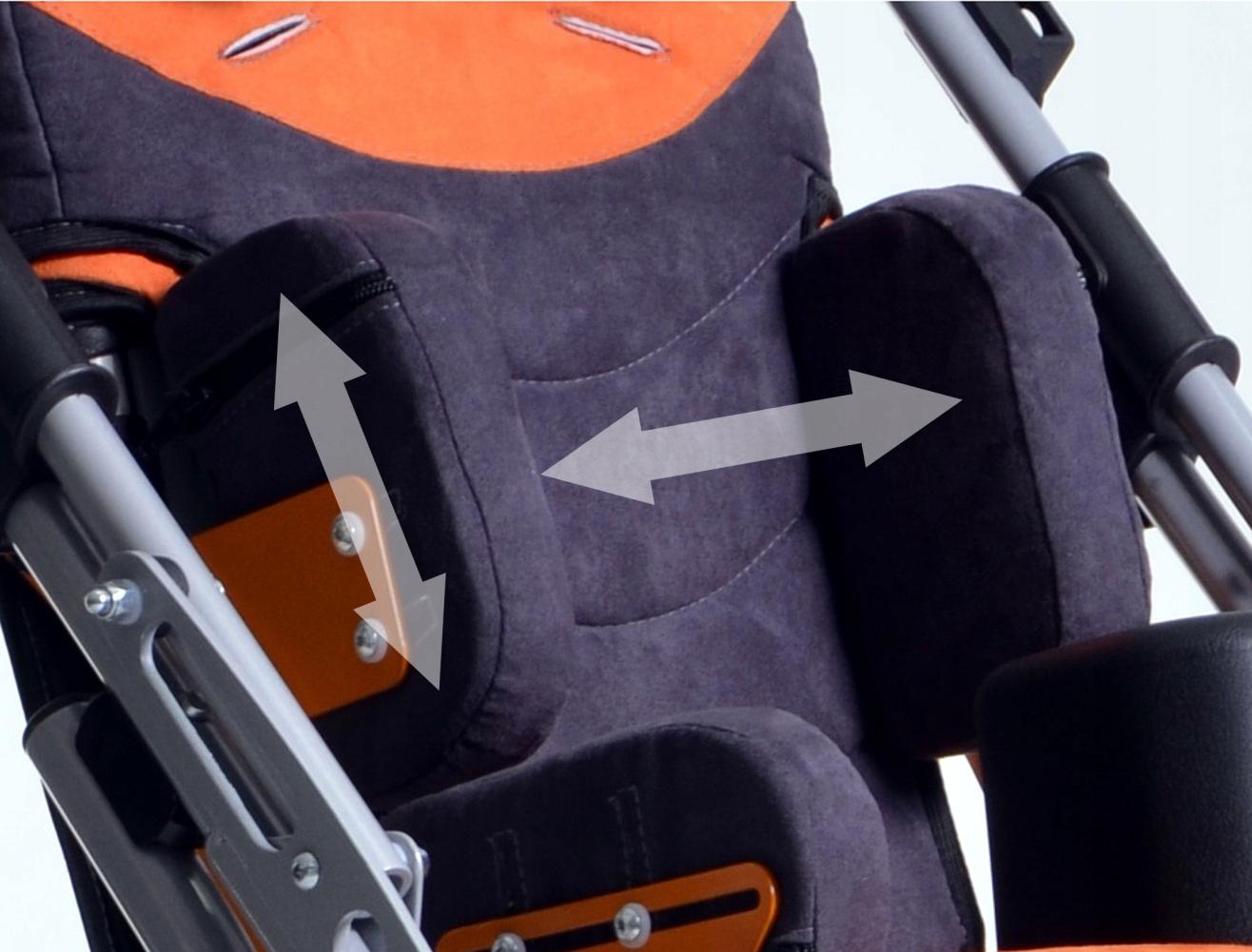 REGULOWANE PELOTY PIERSIOWE do wózka GEMINI 2