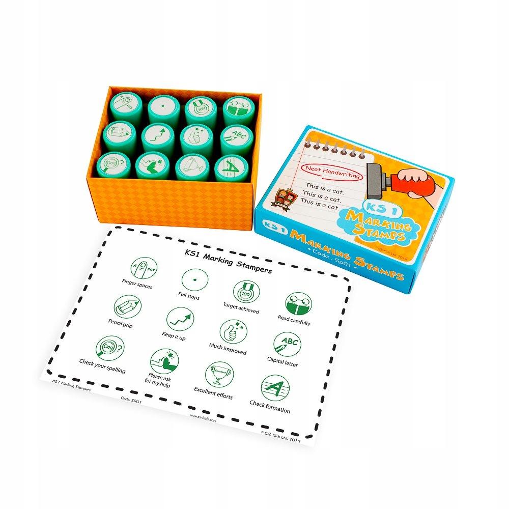Známky CS Kids KS1 Marking Stampers Set 12 známok
