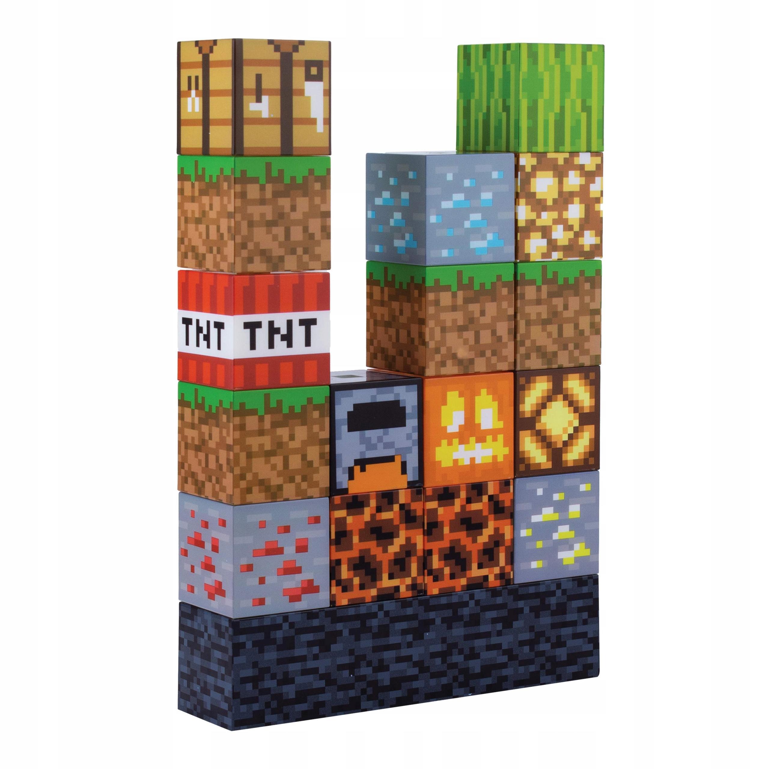 Lampka nocna Minecraft do układania 16 bloków