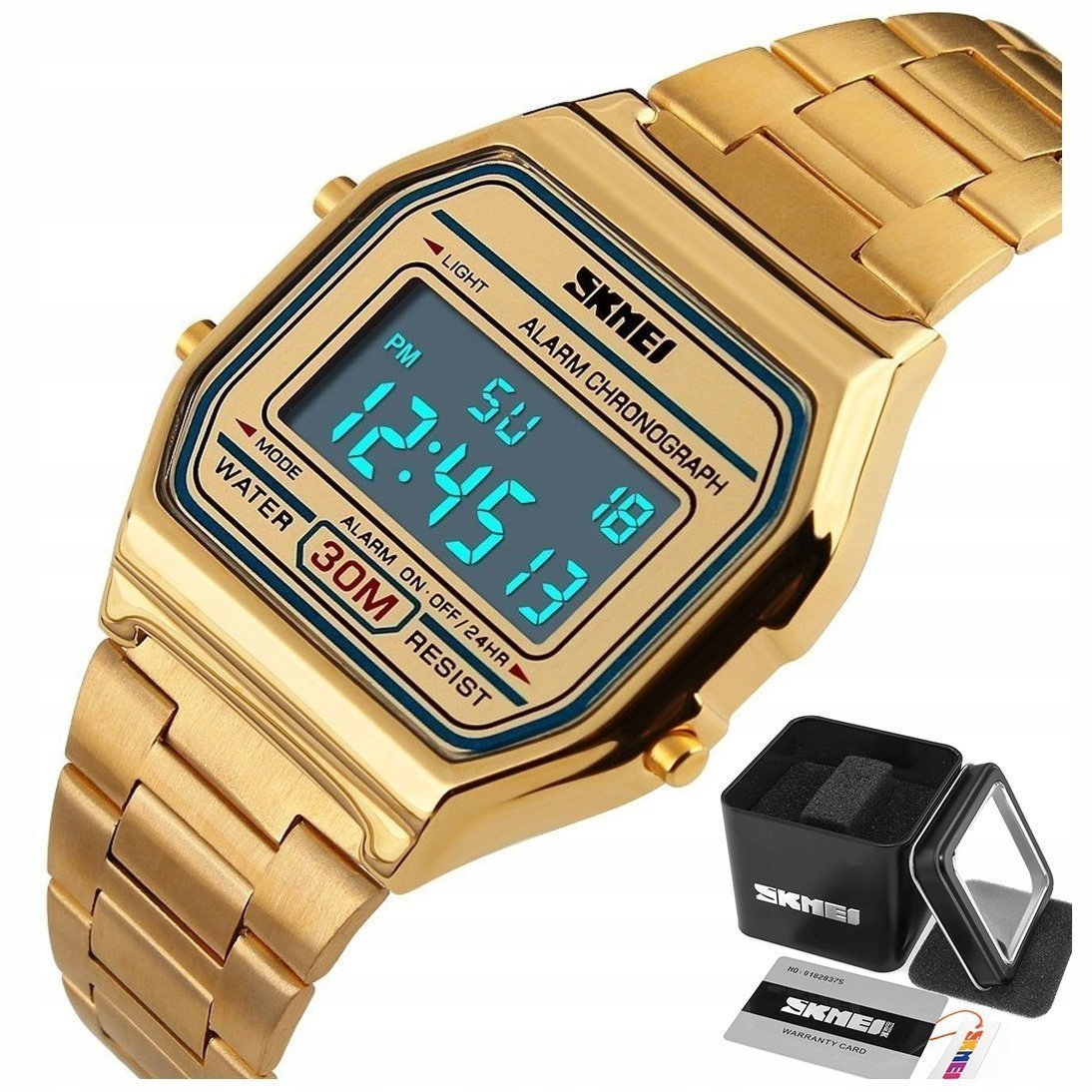 Montana hodinky SKMEI 1123 náramok RETRO zlatý