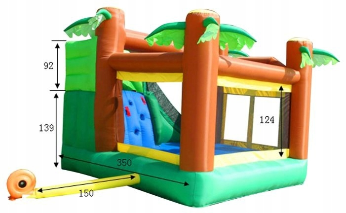 HappyHop Bouncy Castle Bouncy Castle Monkey Jungle