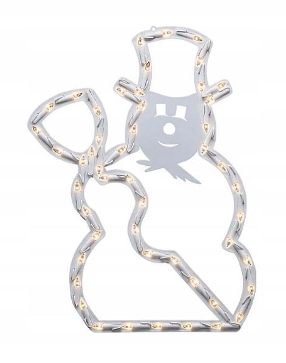 Dekorácia snehuliak LED biela Konstsmide 2179-010