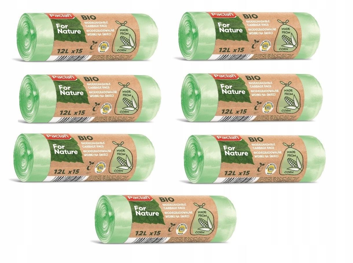 Компостируемые биоразлагаемые сумки 105pcs-12l био