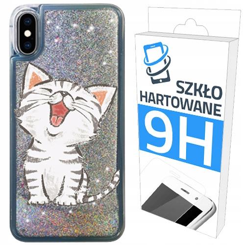 Etui Brokat+szklo Hartowane Do iPHONE Xs Plecki
