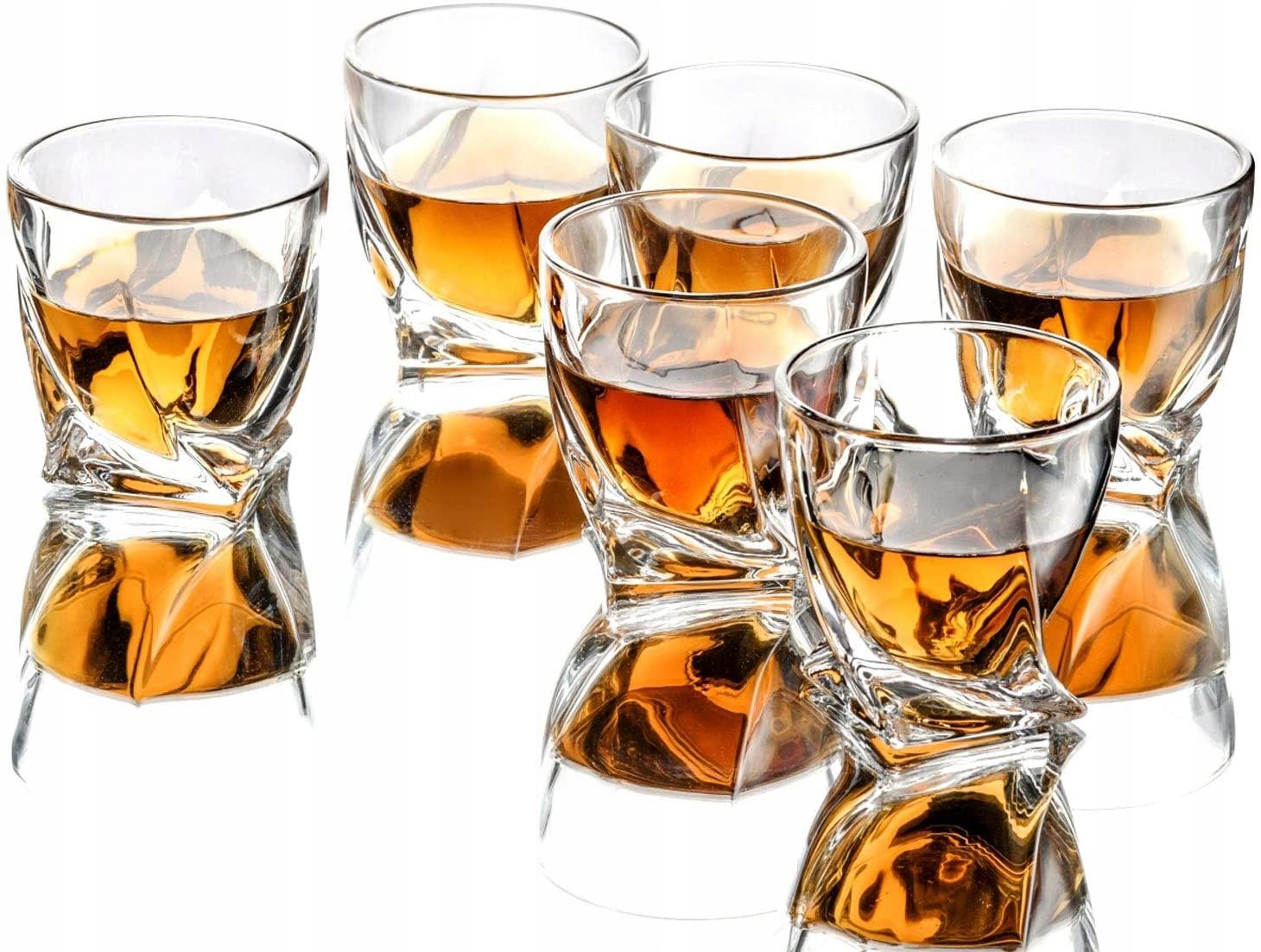 Bohemia Quadro 6 okuliarov pre whisky 340ml