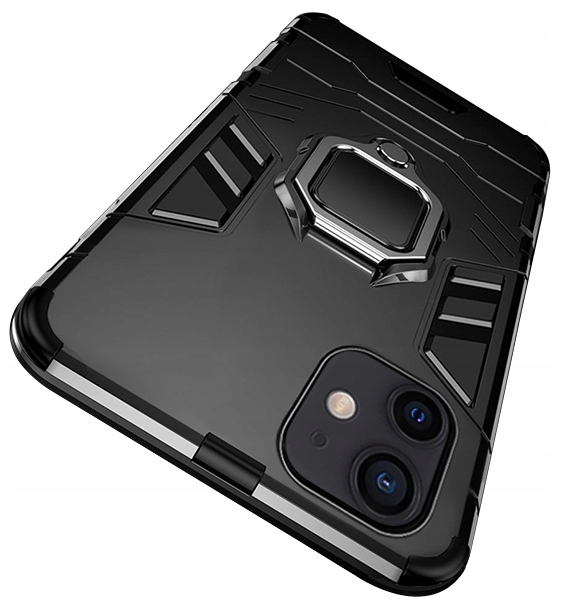 Etui do iPhone 12 Mini Pancerne Ring Case + Szkło