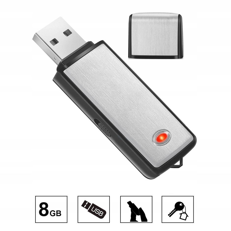 MINI DYKTAFON PENDRIVE PODSŁUCH SZPIEGOWSKI USB Szerokość produktu 2.1 cm
