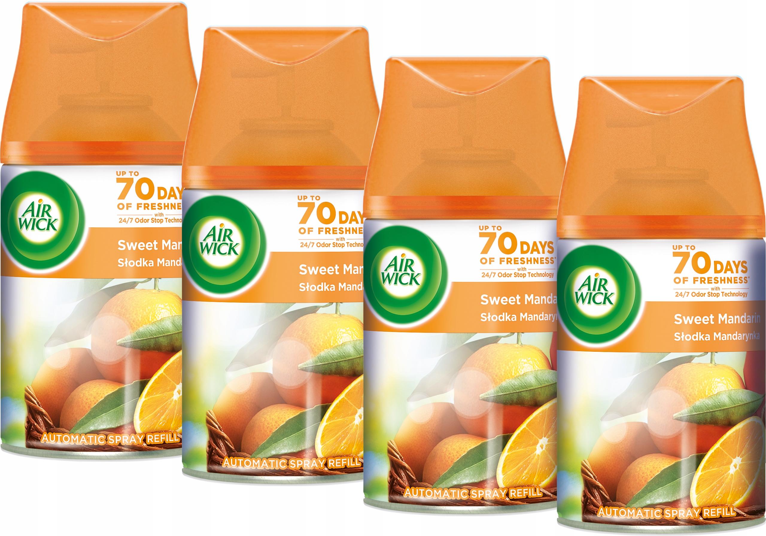 Air Wick картриджа акции Энергия Оранжевый x4
