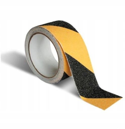 Taśma antypoślizgowa samoprzylepna żółto-czarna
