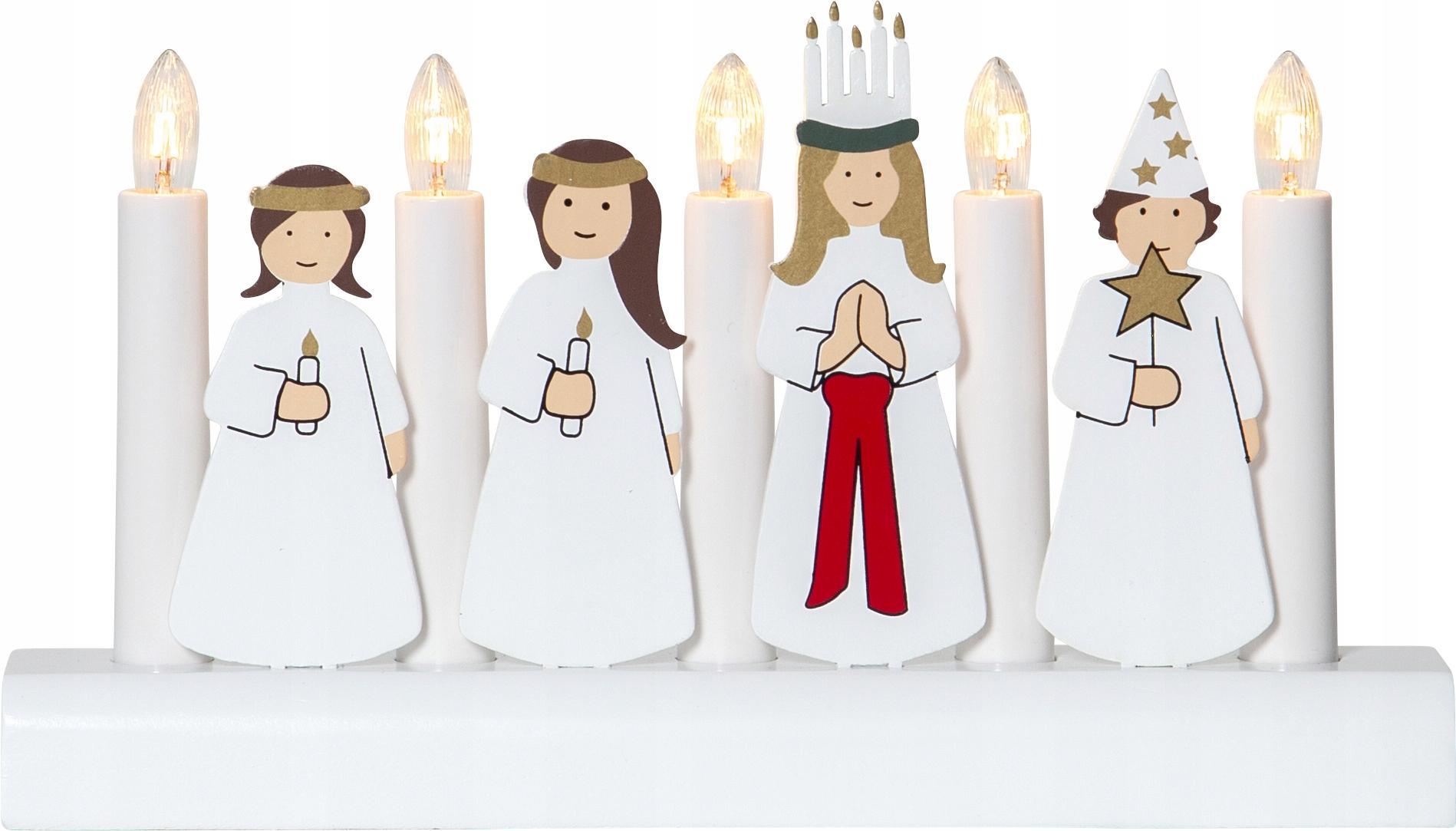Švédsky vianočný svietnik JULIA
