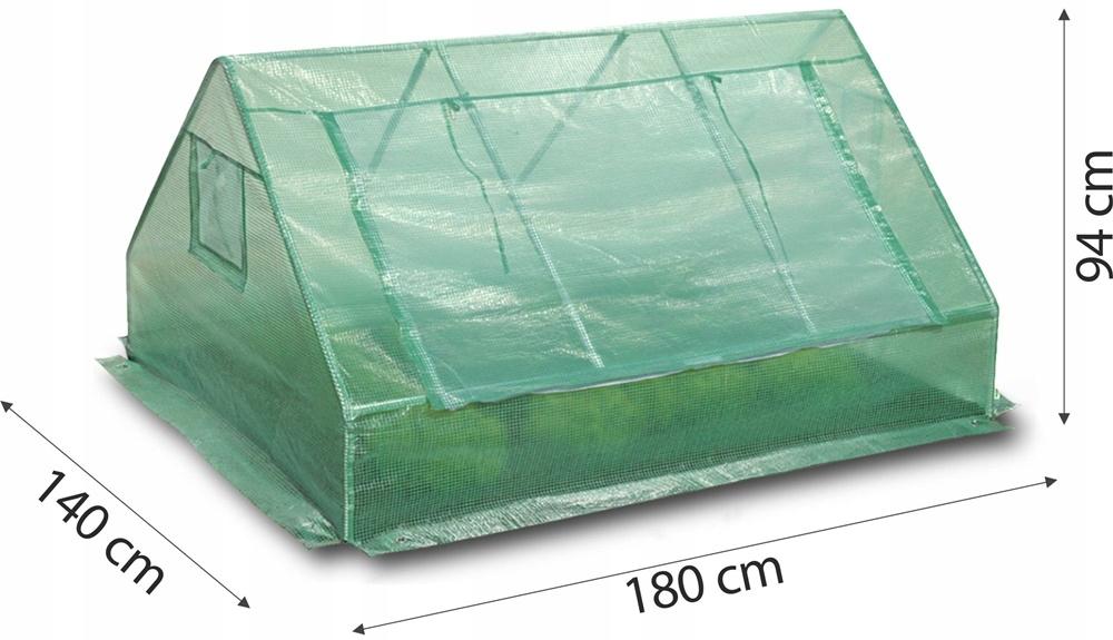 Tunel Mini skleník INSPEKT sejacie lôžko 1,4x1,8 m výška 94 cm