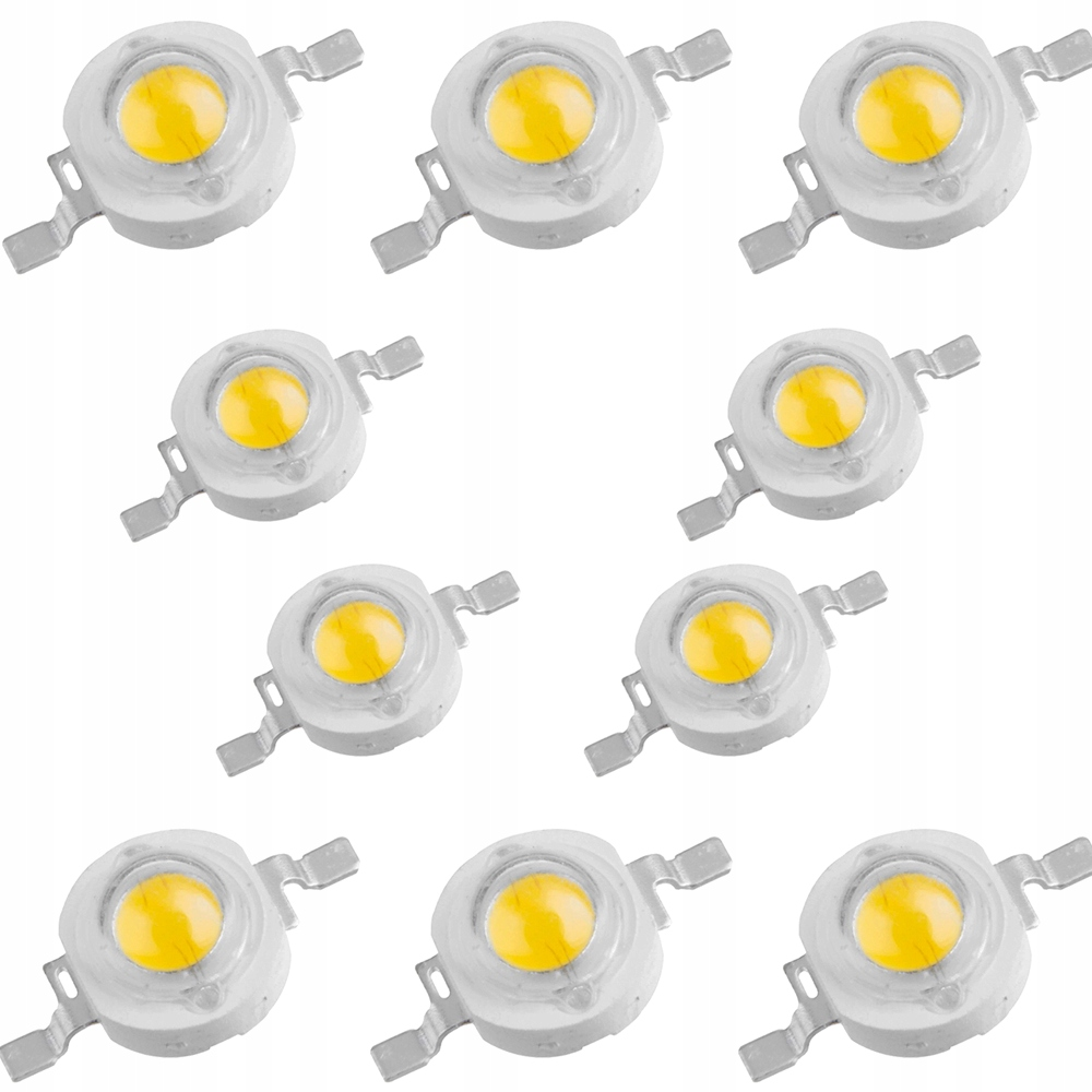 СВЕТОДИОДЫ POWER LED 1W БЕЛЫЕ И ЦВЕТНЫЕ EPISTAR 10 ШТ.