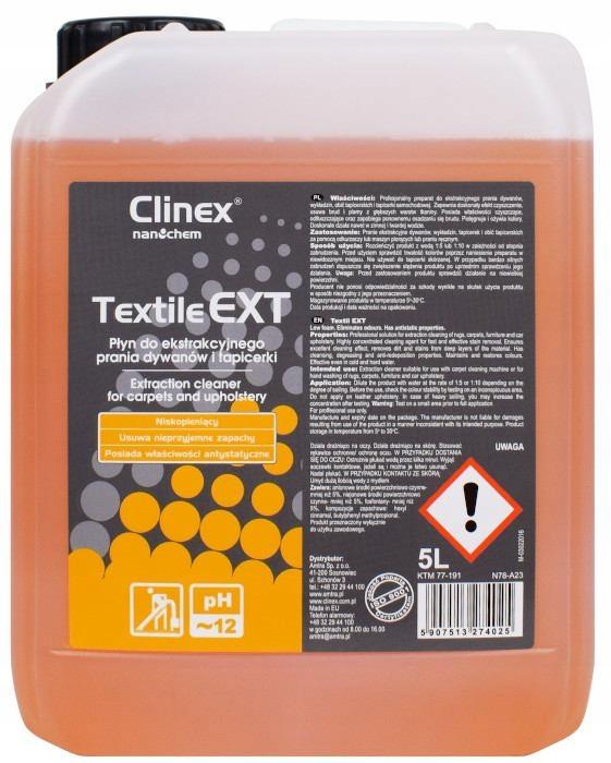 CLINEX TEXTILE EXT Для Извлечения Стирки 5Л