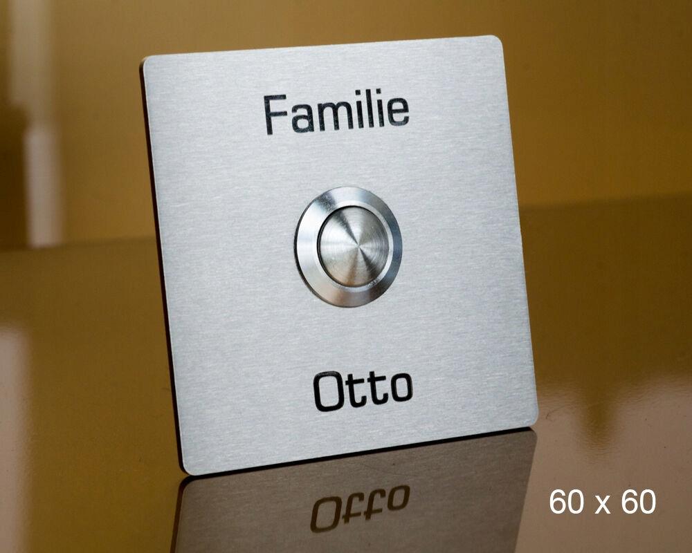 Кнопка звонка домофона NIERDZEW INOX 80 x 80 мм