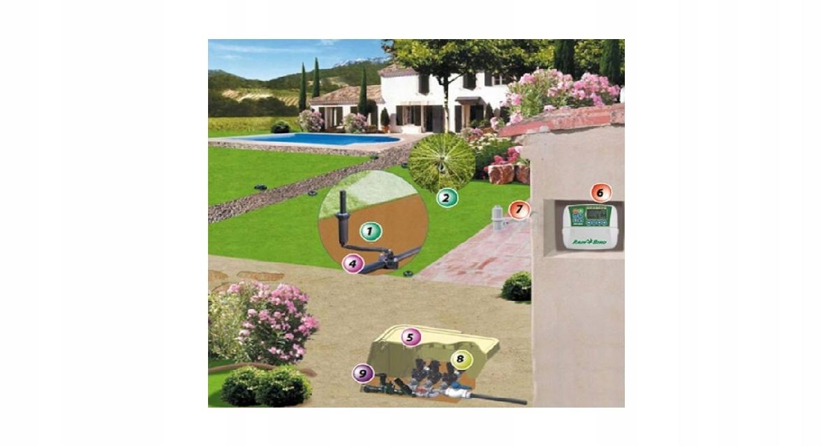 Полный комплект для полива сада из 4 частей