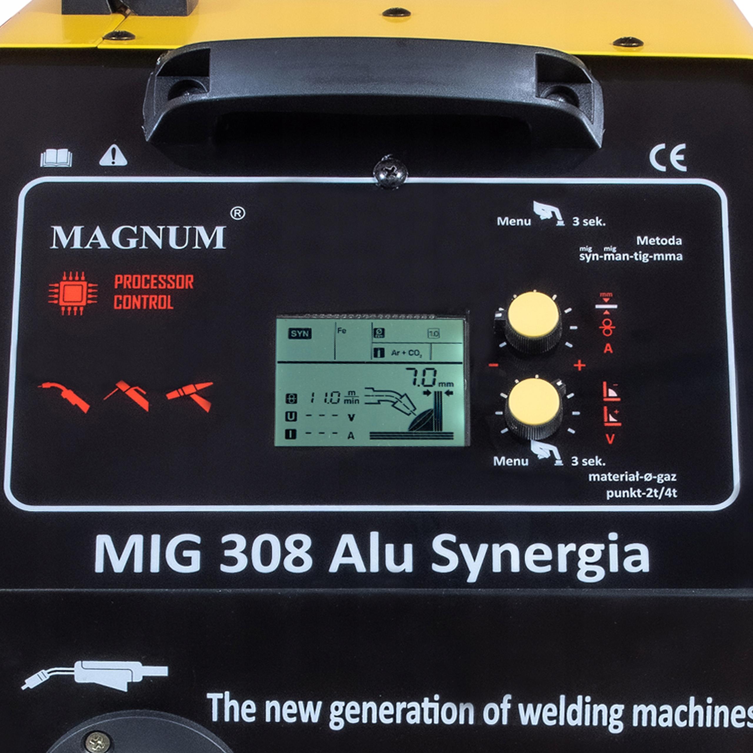 SPAWARKA MIGOMAT MAGNUM MIG 308 ALU SYNERGIA 400V Napięcie zasilania (V) 400