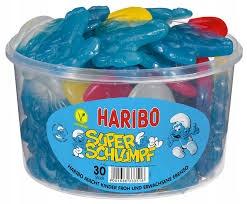 Желейные бобы Haribo Schlumpfe Smurfs 1350г 30шт BIG .DE