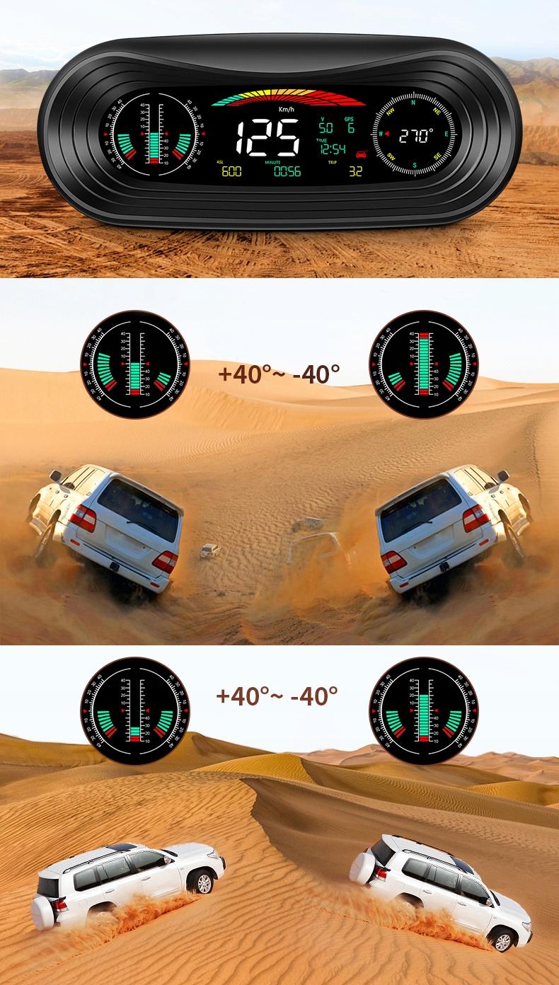 POCHYŁOMIERZ PRZECHYŁOMIERZ OFFROAD KOMPAS GPS 4x4 Numer katalogowy producenta P18