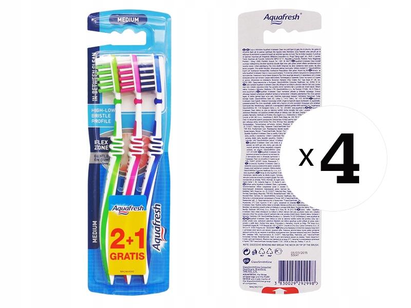 Aquafresh FLEX MEDIUM SET 12x зубная щетка