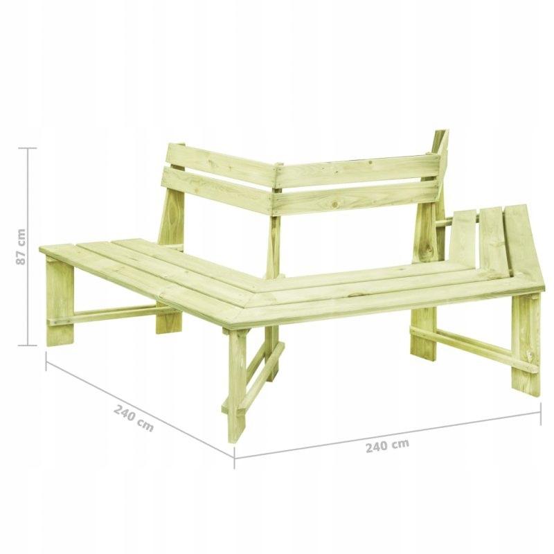 Záhradná lavica, 240 cm impregnované borovicové drevo. Typ s operadlom