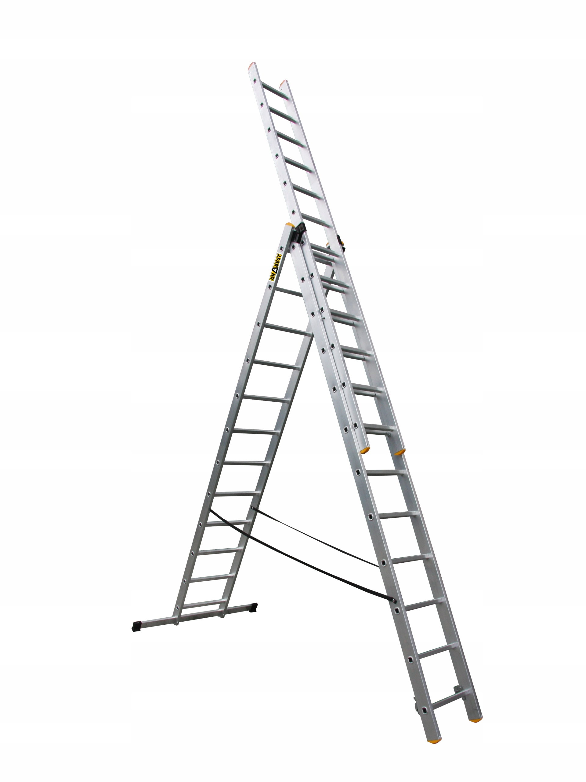 Drabina aluminiowa 3x12 NA SCHODY PROFESJONALNA
