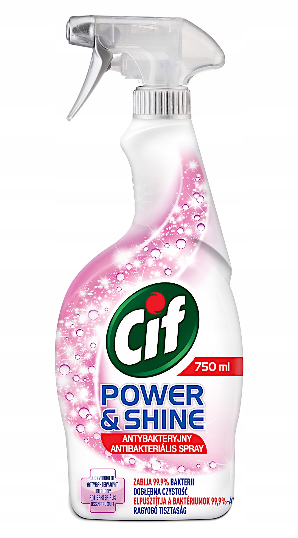 Cif Power Shine Antybakteryjny Spray 750ml