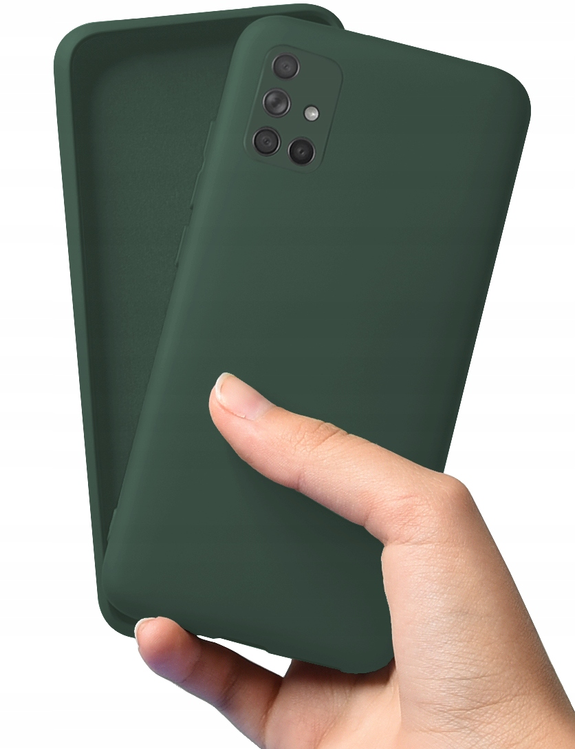 Etui do Samsung Galaxy A71 Case Silicone + Szkło Dedykowany model Galaxy A71