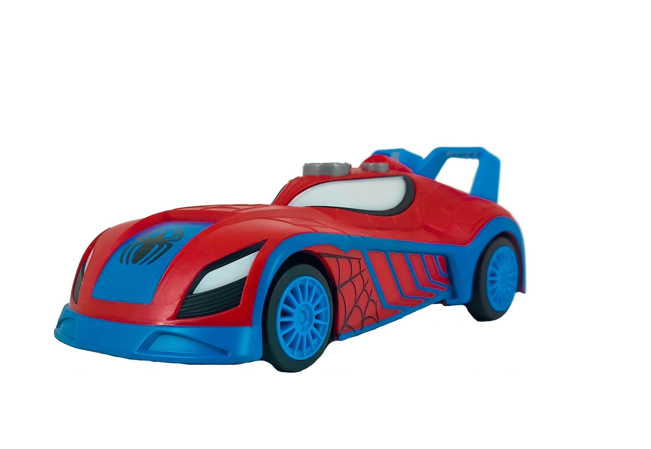 SPIDERMAN AUTO ŚWIATŁO DŹWIĘK NAPĘD BLAZE RACERS EAN 011543770664