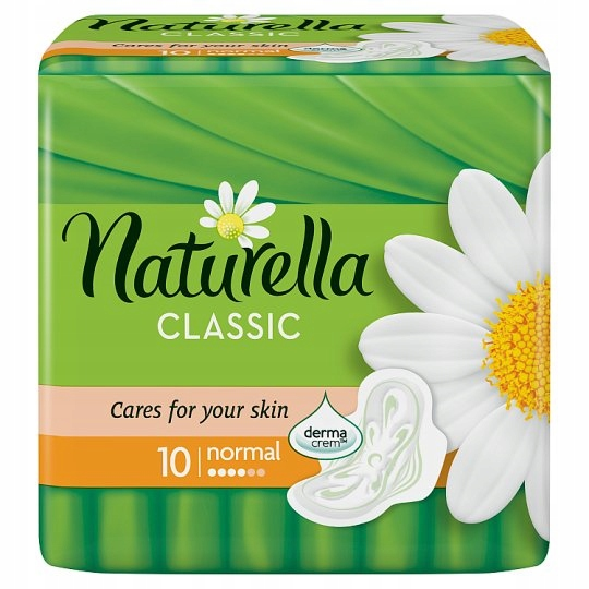 NATURELLA CLASSIC NORMAL РОМАШКА ГИГИЕНИЧЕСКИЕ ПРОКЛАДКИ 10 ШТ